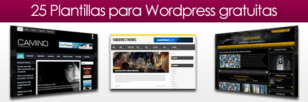 25 Plantillas para Wordpress gratuitas