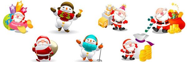 Conjunto de vectores de Santa Claus