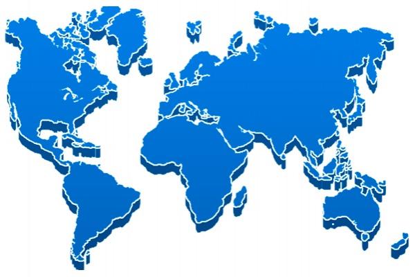 Continentes en 3D