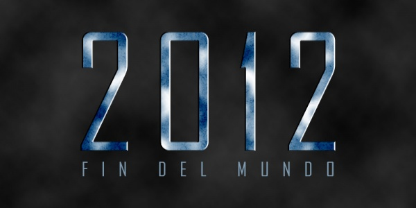 Fin del mundo: Efecto texto 2012 en Photoshop