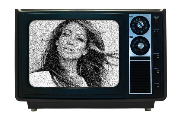 Foto dentro del televisor