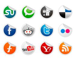 Iconos de redes sociales en PSD