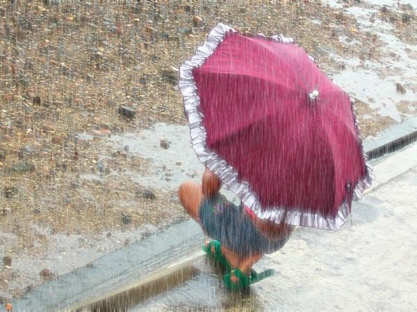 Lluvia en foto en menos de un minuto
