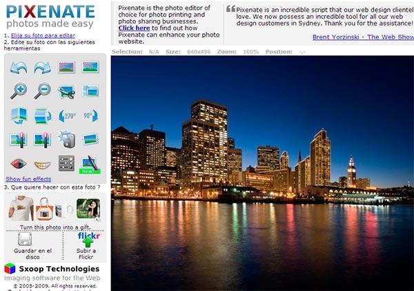 Pixenate - Recotar fotos