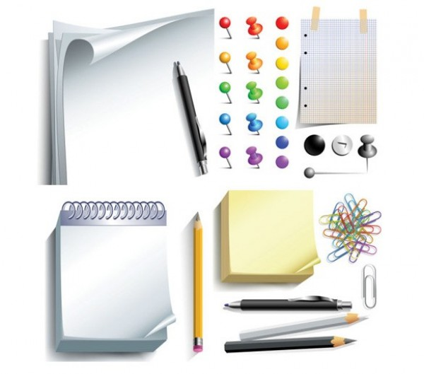 Set de vectores de elementos de oficina