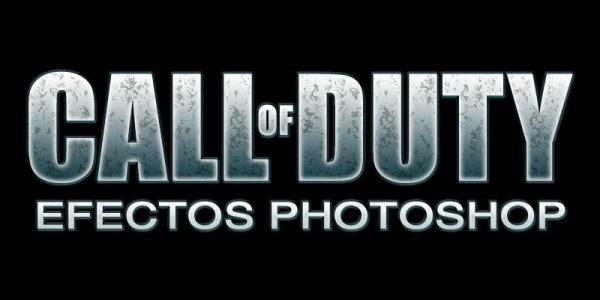 Texto Call of Duty en Photoshop