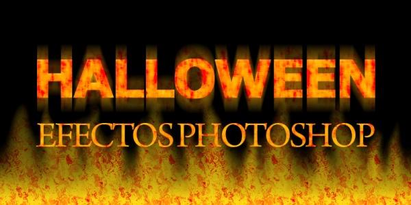 Texto halloween en Photoshop