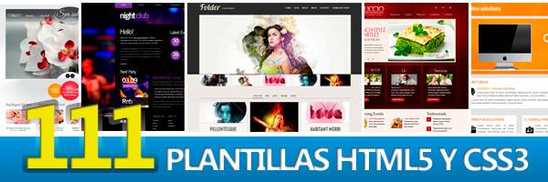 111 Plantillas HTML5 y CSS3 gratis