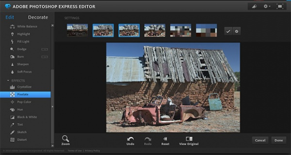 Adobe Photoshop Express online