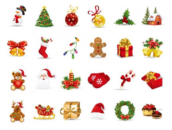 Conjunto de vectores de navidad