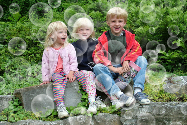Foto con burbujas en Photoshop