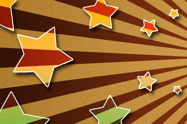 Líneas en fondo más estrellas