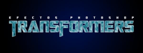 Texto de la película Transformers en Photoshop