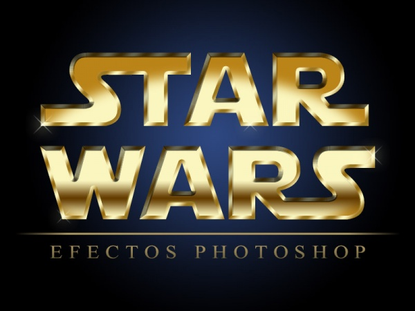 Texto Star Wars con Photoshop